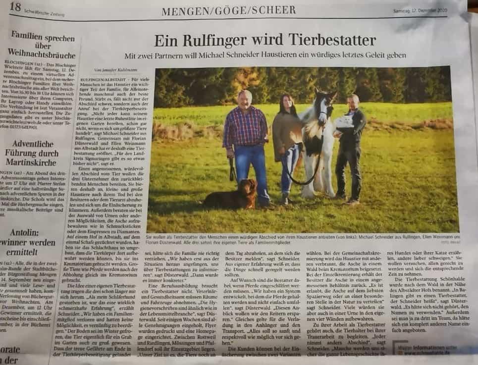 Schwäbische Zeitung 12.12.2020